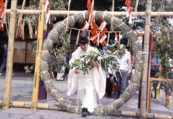 高良大社川渡祭(兜檔祭典)